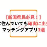 新潟県で本当に使うべきマッチングアプリ3選!新潟の会員数をチェック