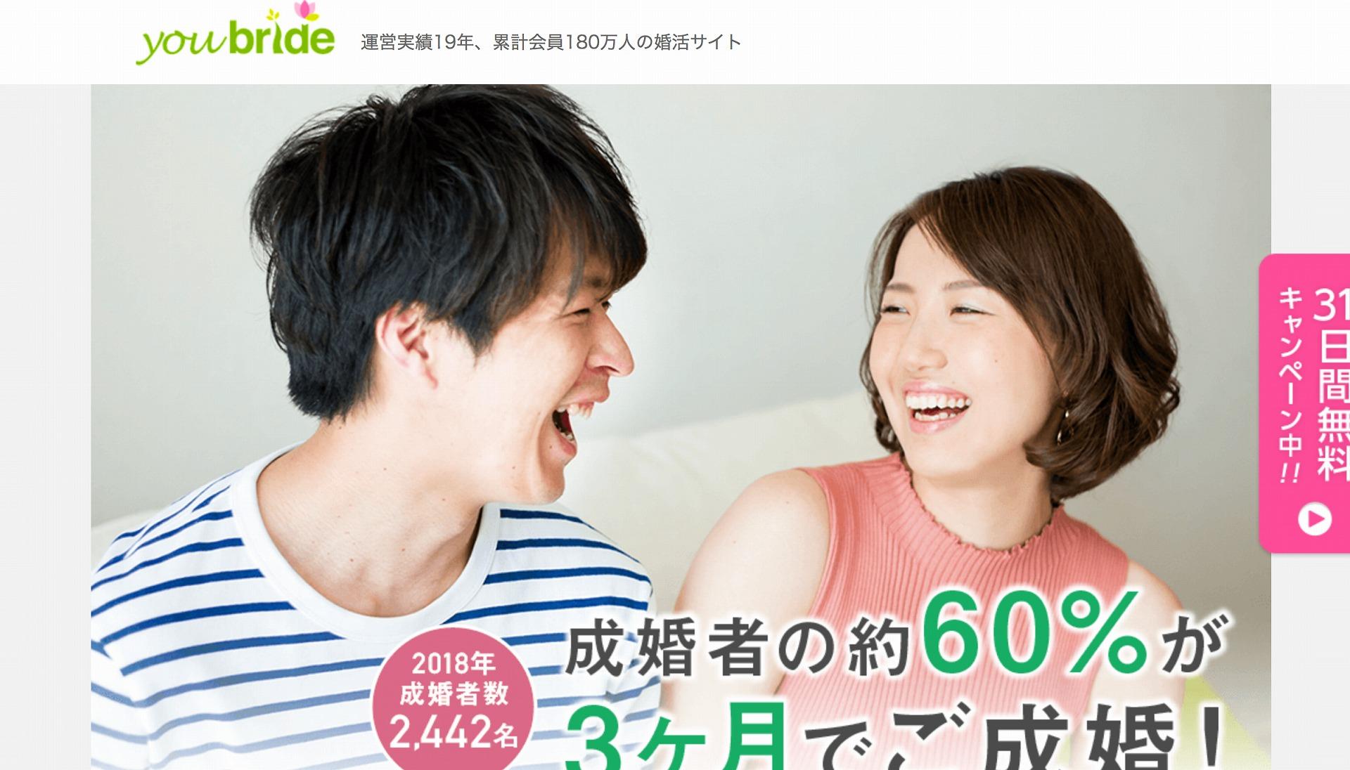婚活サイトを探す50代におすすめの「ユーブライド」のHP