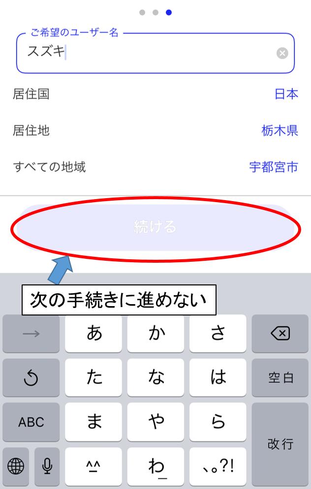 マッチドットコムに登録できないケース(カナ文字)