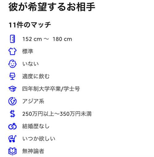 【マッチングアプリ体験談】マッチドットコムのプロフィール欄