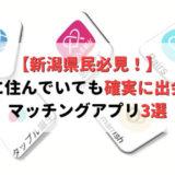 【決定版】新潟で確実に出会えるおすすめのマッチングアプリ3選!