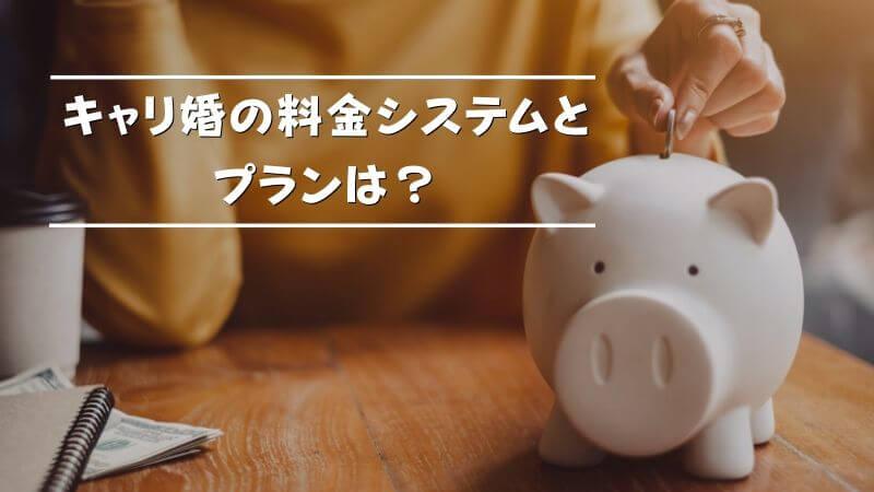 キャリ婚の料金システムとプランは?