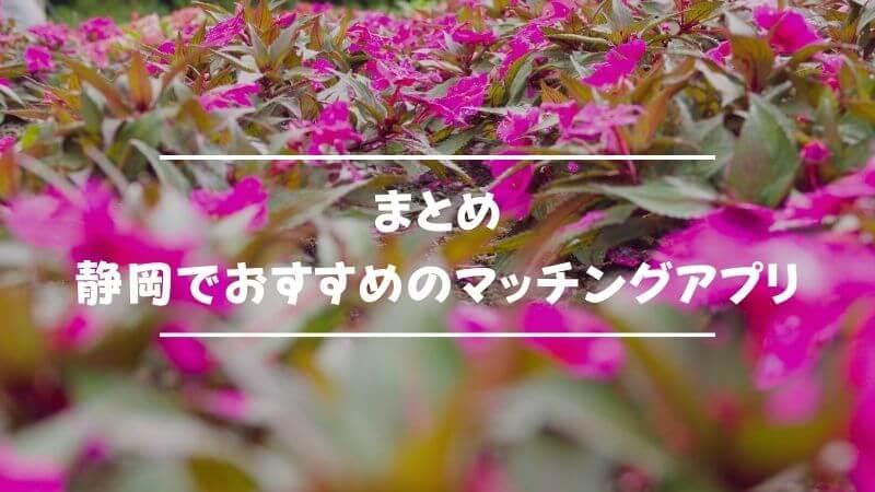 まとめ:マッチングアプリは静岡での出会いにも有効!今すぐ恋を始めよう!