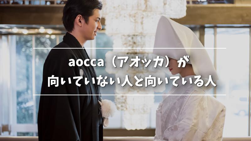 aocca(アオッカ)が向いていない人と向いている人