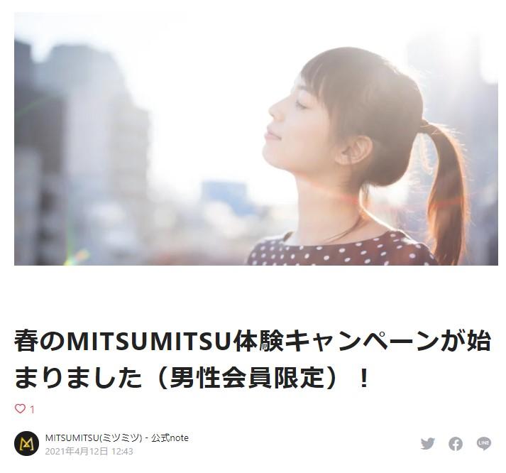 MITSUMITSUのキャンペーン